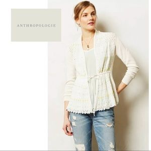 Anthropologie Moth Lazuli Beaded Cardigan